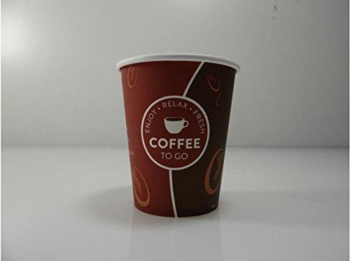 TOP Marques Collectibles Tazza di Caffè 0,2l 50pc–1000ST Pappe 'Coffee to go' Tazza di Caffè Bicchieri di carta, 250 Stück