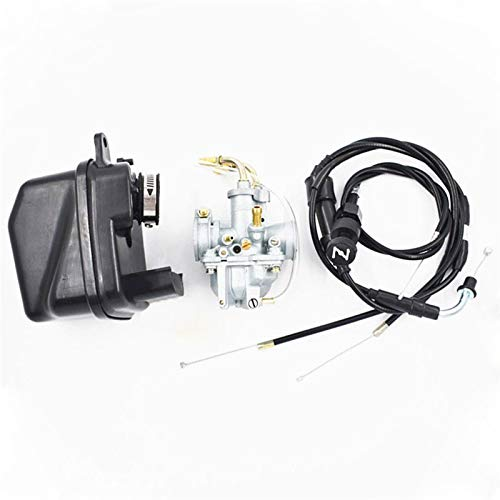 Zcxiong CARBURARIO AJUSTE PARA YAMAHA Y AJUSTE PARA ZINGULO PW 50 PW50 UK 23mm Enchufe del filtro de aire del carburador del carburador Cable de estrangulador y cable de estrangulación del acelerador