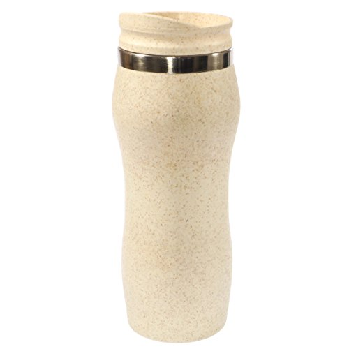 NORDAL · Isolierbecher Coffee-to-go Trinkbecher BAMBOO Travel Mug 400ml · creme silber