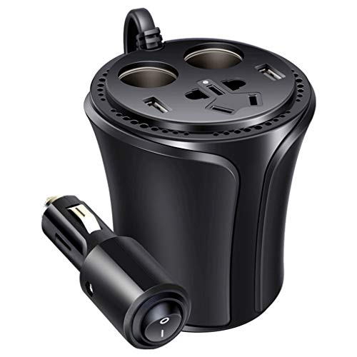 Cargadores de coche Cargador del coche del puerto del USB 2, poder del coche de la función multi del cargador 12V del coche, cargador del ventilador del inversor inteligente, cargador elegante del mic