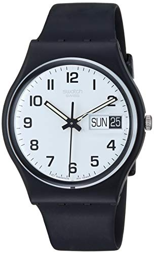 Swatch Herrenuhr Analog Quarz mit Plastikarmband – GB 743