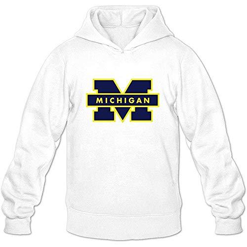 Eduardo Marin Men's American College Football Team Big Ten Michigan Wolverines Logo Hoodies