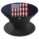 US American Flag Baseball Bat Ball Cool Sports Lover Gifts PopSockets Support et Grip pour Smartphones et Tablettes