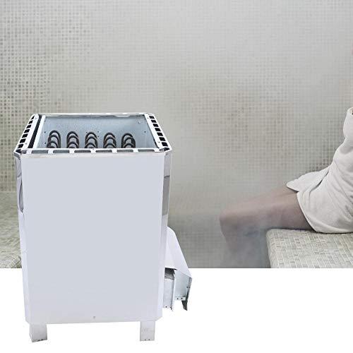 Pangding Generador de Vapor de Sauna trifásico Control Externo Equipo de Calentador de Estufa de Sauna de Acero Inoxidable para SPA Hogar Baño Hotel Ducha 380V(18KW)