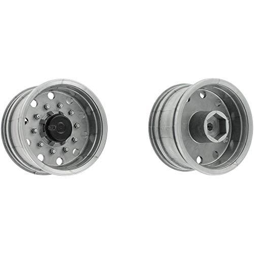 Carson modelsport 1:14 vrachtwagen-oplegger velgen 27,5 mm kunststof Euro-look zilver 1 paar