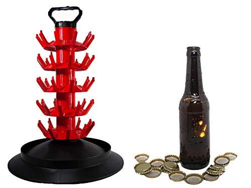 Set Completo de Accesorios para la Fabricación de Cerveza Artesana (16 Botellines 33cl, 100 chapas, Escurridor/Secador con capacidad de 50 botellas cerveza)