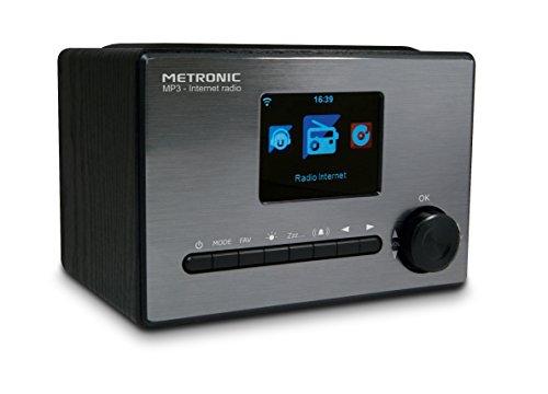 """Metronic 477260 - Radio Internet con wi-fi, Toma USB 5w, Pantalla 3,1"""", función WPS, Despertador, Entrada aux, Salida Line out estéreo."""
