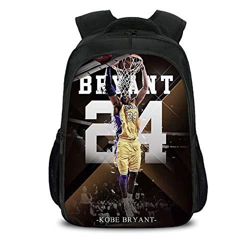 Liuying Kobe Rucksack Junior High School Schüler Reisen Freizeit Mode Große Kapazität Leichte Komfortable Reißverschluss Basketballtasche,G-40x27x17cm