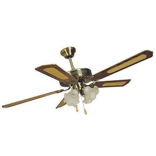 ventilatore da soffitto marrone Ventilatore a soffitto 5 pale 4 luci diametro 132