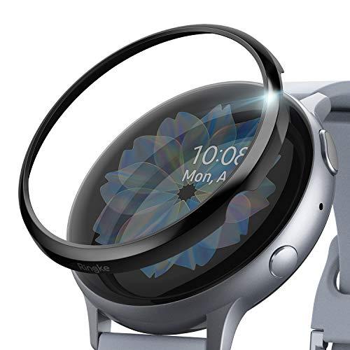Ringke Bezel Styling Kompatibel mit Galaxy Watch Active 2 Hülle 44mm [Glänzend Schwarz] Lünette Ring Kratzfest GW-A2-44-03