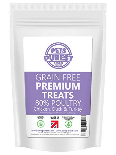Pets Purest Grain Free Dog Training Treats - 100% Natural 800 Tasty & Healthy Treat Pack - 80% Fresh Protein - Hypoallergenic Treats For Dogs & Cats with Sensitive Stomachs (Poultry)