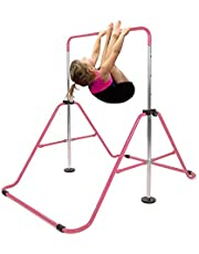 Saio Barras de entrenamiento para niños de gimnasia en casa para práctica de gimnasio plegable, torre de escalada horizontal, expandible para niños, mono de juguete para niños