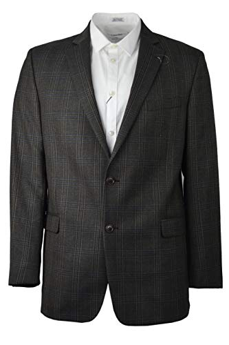 Brooks Brothers Men's 80116 1818 Madison Fit Made in USA Wool Two Button Sports Coat Blazer Beige Multi Plaid (48R Regular)
