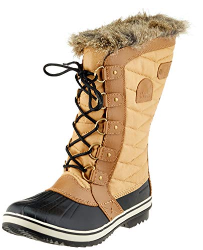 SOREL - Women's Tofino II Waterproof Insulated Winter Boot with Faux Fur Cuff, Curry, Fawn, 6 M US