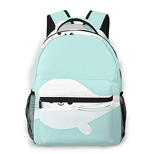Laptop Rucksack Schulrucksack Schwimmendes Baby, 14 Zoll Reise Daypack Wasserdicht für Arbeit Business Schule Männer Frauen