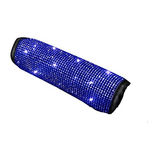 Juego de accesorios de decoración de vehículos universales con cubierta protectora de diamantes de colores brillantes para coche de diamantes de imitación azul