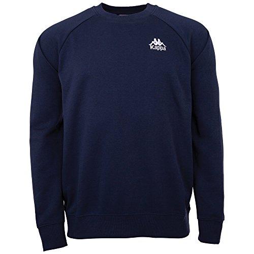 Kappa Herren Sweatshirt Authentic Taule | Langarm Shirt, Retro-Look Hoodie, Pullover Sweater Long-Shirt, Regular fit | 821 navy, Größe M