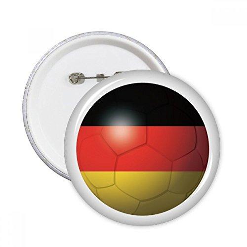 DIYthinker Regalo Botón Alemania Nacional de Fútbol Flag Football pernos redondos Placa...