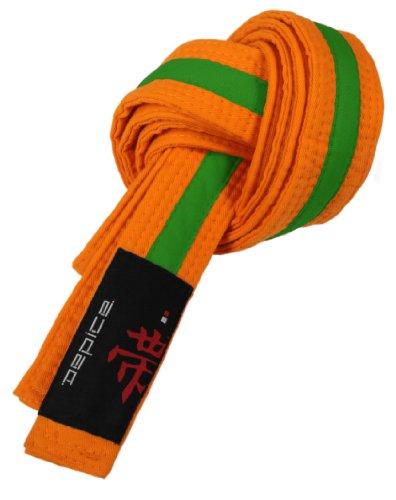 DEPICE Gürtel Karategürtel Judogürtel - Expositor de cinturones de artes marciales, color (Orange/Grün), talla 300 cm