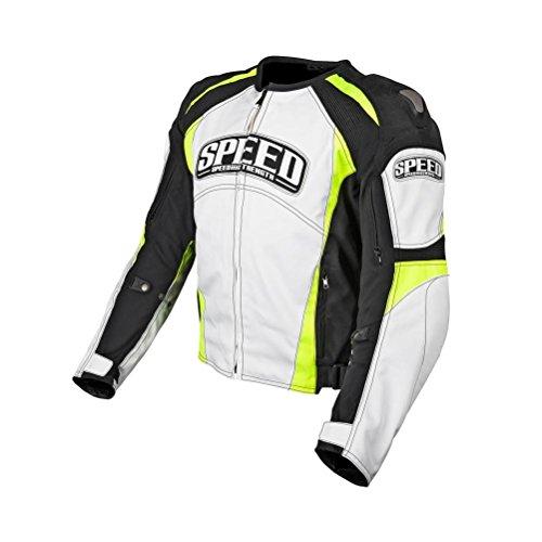Speed and Strength Twist of Fate 3.0 Men's Textile Jacket (White/Hi-Viz, X-arge)