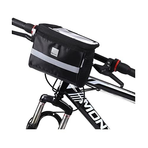 WOZINSKY Lenkertasche Fahrradtasche für Lenker Wasserdicht Reisetasche Tasche für Fahrrad, Mountainbike, ebike, MTB, Rennrad Bike Bag Fahrradtasche Lenker 2 L