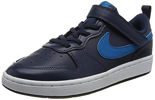 Nike Court Borough Low 2 (PSV), Zapatillas para Correr Unisex niños, Midnight Navy/Imperial Blue-Bl, 34 EU