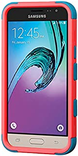 MyBat Cell Phone Case for Samsung J320 - Retail Packaging - Red/Teal