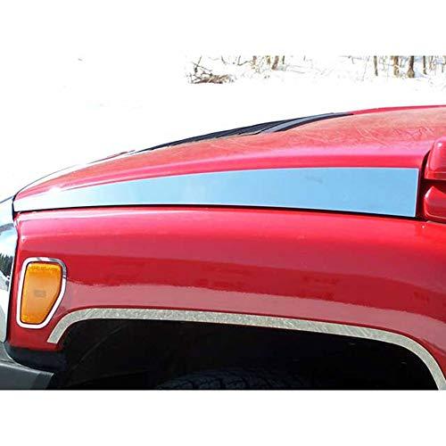 06 hummer h3 chrome hood - 3