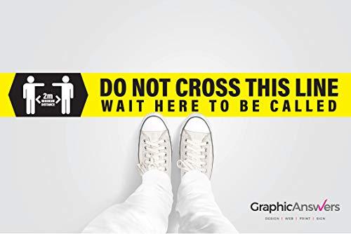 Covid 19 Coronavirus - Adesivo da pavimento 'Do not cross this linea'