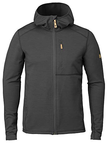 Fjällräven Keb Fleece Hoodie M Sweat-Shirt Homme Dark Grey/Black FR : XL (Taille Fabricant : XL)