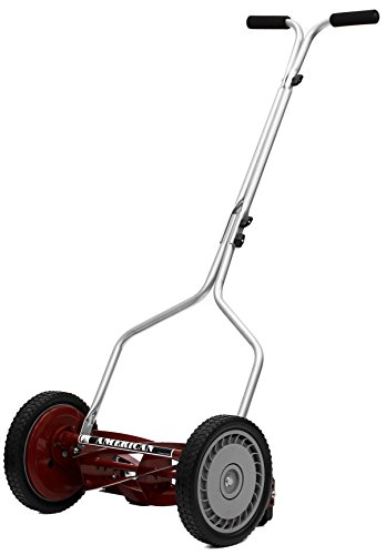 American Lawn Mower Company 1304-14 14-Inch 5-Blade Push Reel Lawn Mower, Red