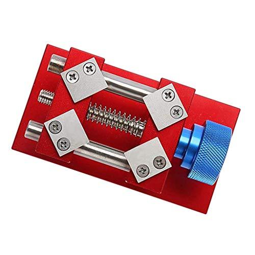 dailymall Uhr-Gehäusehalter Uhrenhalter Schraubstock Halter Uhrmacher Werkzeug für Wartung der Armbanduhren, Rot/Silber - Rot