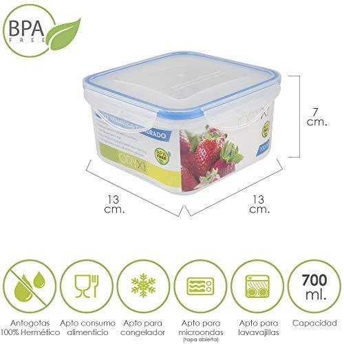 Oryx 5025012 Recipiente Hermetico Plastico Cuadrado 700 ml ...