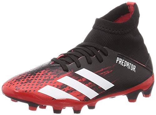 Adidas Predator 20.3 MG J, Zapatillas Deportivas Fútbol Unisex Infantil, Multicolor (Core Black/FTWR White/Active Red)