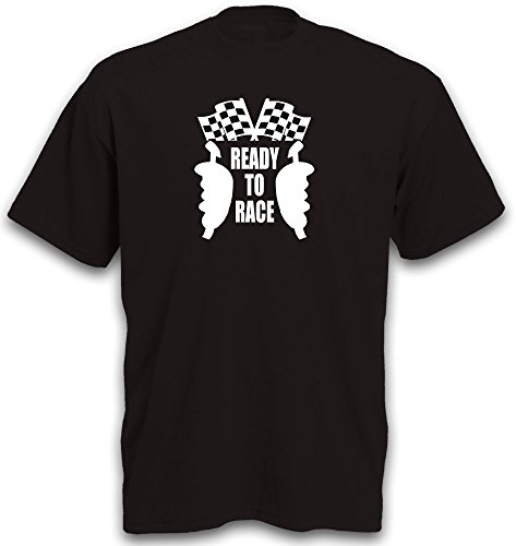 T-Shirt Slotcar Slotracing Motiv Carrerabahn Ready to Race Controller Funshirt Gr. L