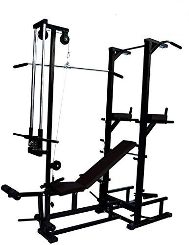 INFINITY FITNESS 20 in 1 ABS Tower with Ground Pully Handle and Gym Bench and Push up Workout Equipment (...