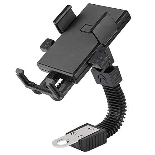 ETbotu telefoonhouder - Motorfiets Telefoonhouder Elektromobiele Motorsteun 3,5-6,5 inch Telefoonstandaard voor Fietsen Elektrische Auto's Motorfietsen, zwart.