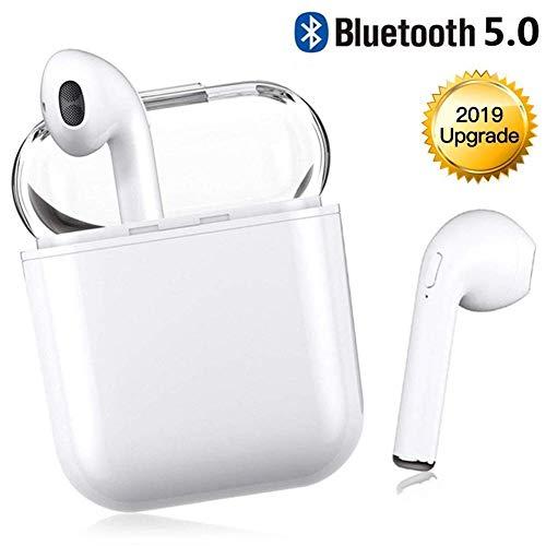 Preisvergleich Produktbild Bluetooth Kopfhörer, In Ear Bluetooth 5.0 Headset Stereo-Minikopfhörer Sport Kabellose Kopfhörer mit Portable Mini Ladekästchen und Integriertem Mikrofon für Apple Airpod Android iPhone