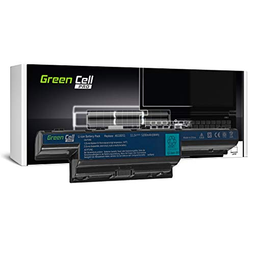 Green Cell PRO Série Batterie pour Acer Aspire 5551 5552 5733 5741 5741G 5742 5742G 5742Z 5749 5749Z 5750 5750G 5755G Ordinateur PC Portable (Les Cellules Originales SDI, 6 Cellules, 5200mAh, Noir)