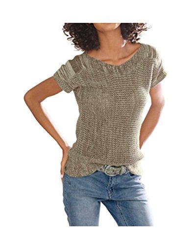 Linea Tesini Designer-Pullover taupe Größe 42