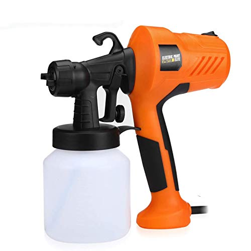 FirstPower HVLP Paint Sprayer - 700Watt Electric Spray Gun with 800ML, 5 Nozzle Sizes - Easy Spraying & Cleaning, Lightweight for Home & Outdoors Painting Project(0.5mm/1.0mm/1.2mm/1.5mm/2.5mm)