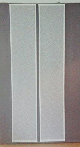 Gardinenking Schiebevorhang Leinen farbig mit Paneelwagen und Beschwerung 45 oder 60 cm breit (245 x 45 cm, blau)