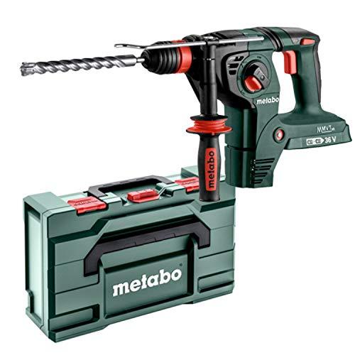 Metabo Akku Bohrhammer KHA 36-18 LTX 32 (600796840) in MetaLoc; ohne Akkupack und Ladegerät, mit Metabo-Quick-Wechselfutter, für 3 Funktionen - Neuheit 2021