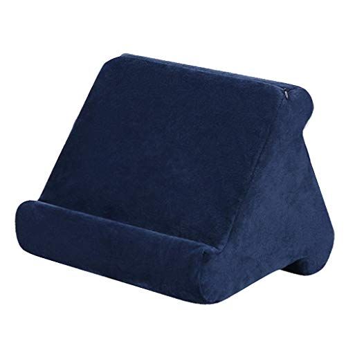 CUTICATE Multi-Angle Cushion for Tablets, Soft Pillow for Tablets, Smart Phones, Digital Book Readers, Books and Magazines - Dark Blue