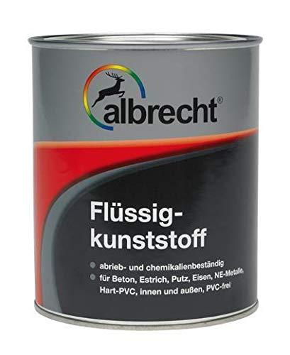 Albrecht Flüssigkunststoff Kunststofflack Bodenbeschichtung Farbe 750ml (Kieselgrau)