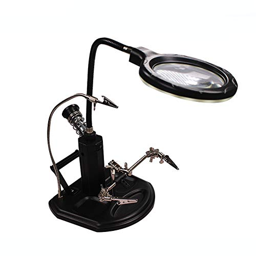 Ledlampen voor vergroting, tafellamp, 360 graden draaibaar, reparatiegereedschap, soldeerbout Een