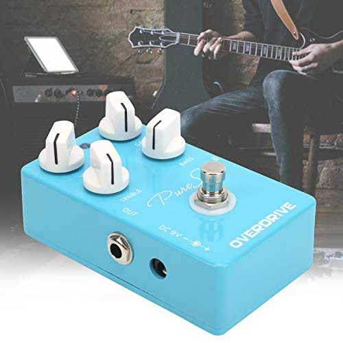 Summer Enjoyment Guitar Overdrive Pedal, Overdrive Effect Pedal Blue for Guitarist for Outdoor Performance for Music Club for Music Lover