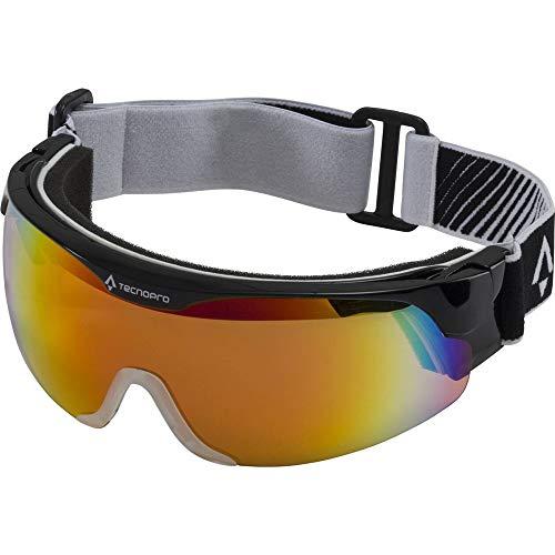 TECNOPRO Herren LL-Brille Active Nordic Visor Langlaufbrille, Black, 2