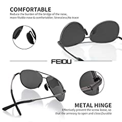 FEIDU Sunglasses man - Pilot sunglasses mens with Ultra-Light Metallic Metal Frame and Women Mens sunglasses FD9002 #3
