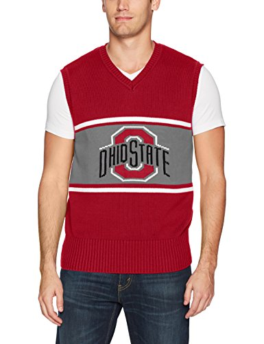 OTS NCAA Ohio State Buckeyes Men's Sweater Vest, Logo, X-Large